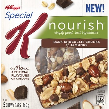 KELLOGG'S SPECIAL K NOURISH DARK CHOCOLATE CHUNKS AND ALMONDS