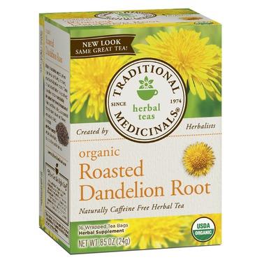 Traditional medicinals organic roasted dandelion root tea