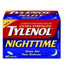 Tylenol extra strength nighttime sleep aid pain reliever