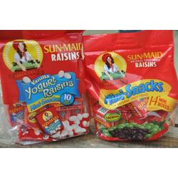 Sun-maid vanilla yogurt raisins