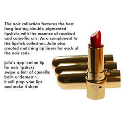 Julie Hewett Noir Red Lipstick Collection