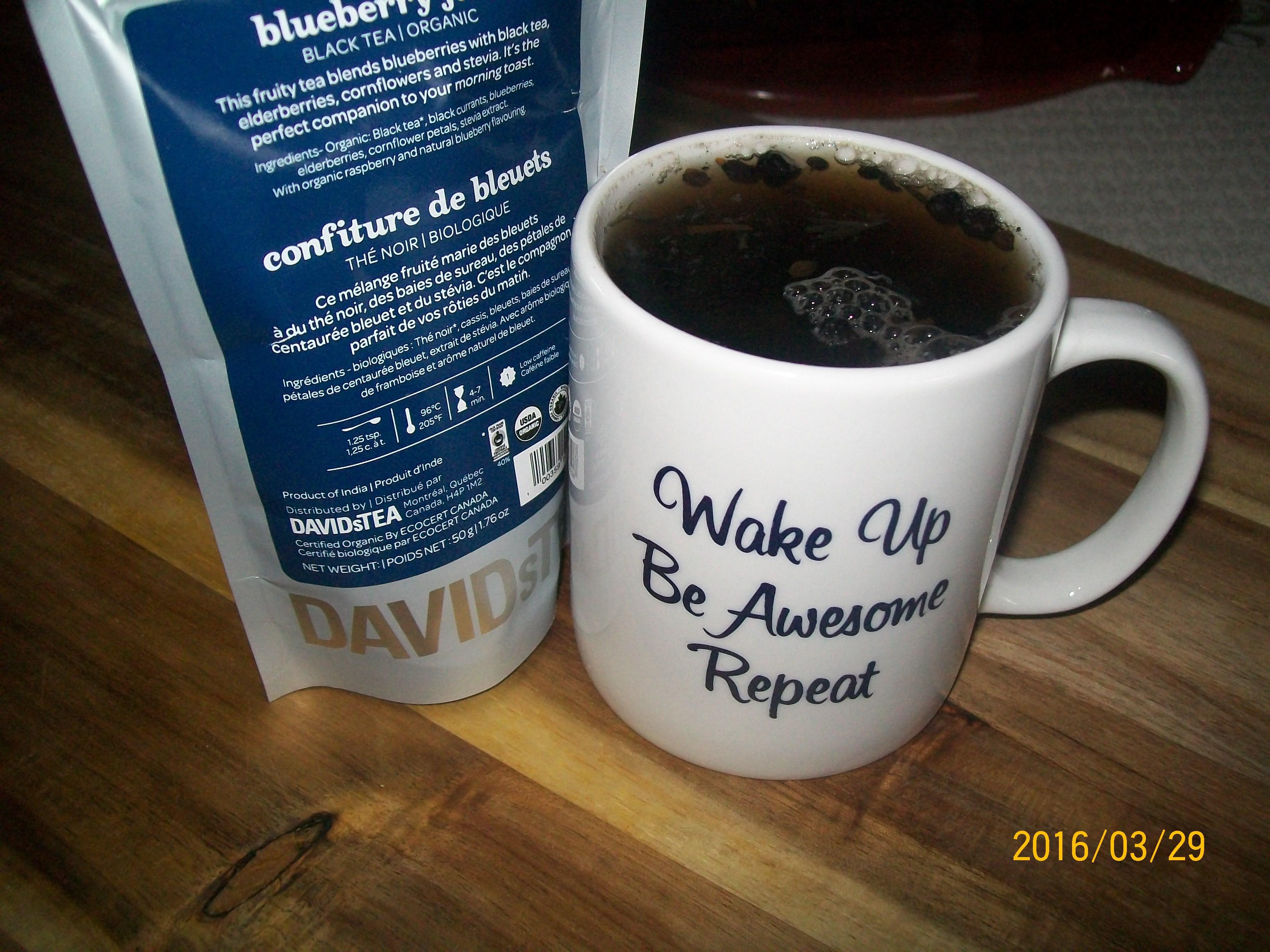 Coffee organic tea - David S Blueberry Jam Loose Black Organic Tea Image Gallery