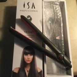 ISA Profesional 1 Step Victorya Tourmaline Ceramic Flat Iron Hair Straightener