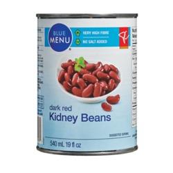 Blue Menu Dark Red Kidney Beans