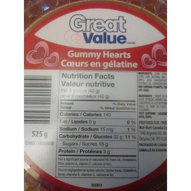 Great Value Gummy Hearts