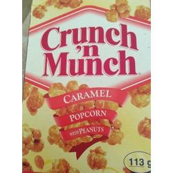 Crunch n munch caramel popcorn with peanuts