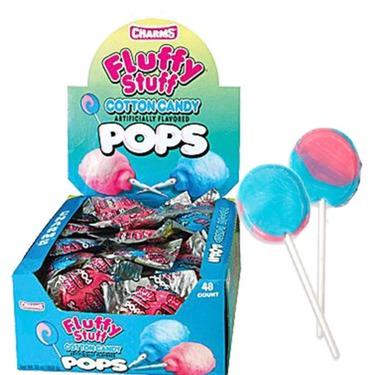 Fluffy stuff cotton candy pops