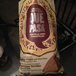 Organic Que Pasa Tortilla Chips with Black Beans