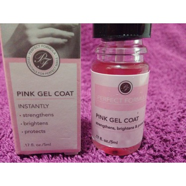 Perfect Formula Pink Top Coat - Strengthens and brightens