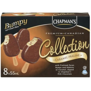 Chapman's Collection Caramel Praline Bumpy Ice Cream Bars