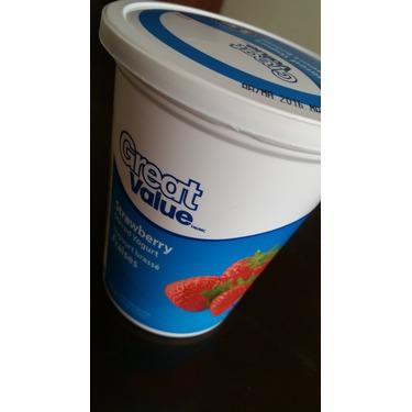 Great value strawberry stirred yogurt