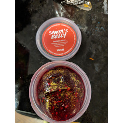 lush santa's belly shower jelly