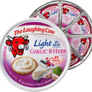 The Laughing Cow Light Garlic & Herb Cheese Wedges