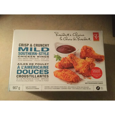 Presidents choice crisp & crunchy mild southern style chicken wings