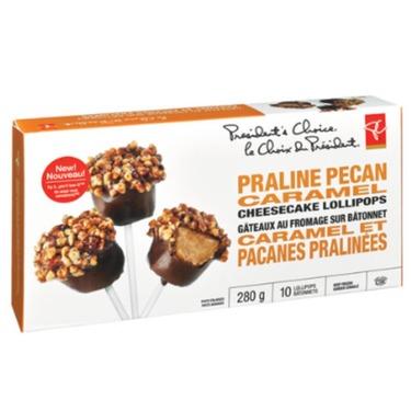 Presidents choice praline pecan caramel cheesecake lollipops