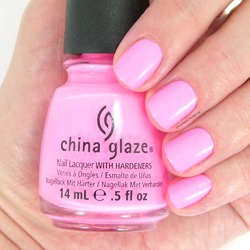 China Glaze Shocking Pink (neon)