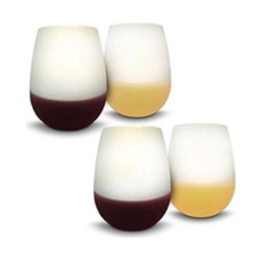 ORBLUE Flexible Silicone Camping Wine Glasses - 16 oz
