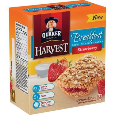Quaker Harvest Breakfast Fruit Filled Squares
