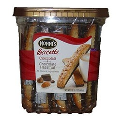Nonni's Cioccolati & Chocolate Hazelnut Biscotti