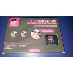 Gel Base, Top Coat and Ice Queen Color Changing Shellac Polish SET of 3 Bottles- Non-Toxic & Professional Salon Quality