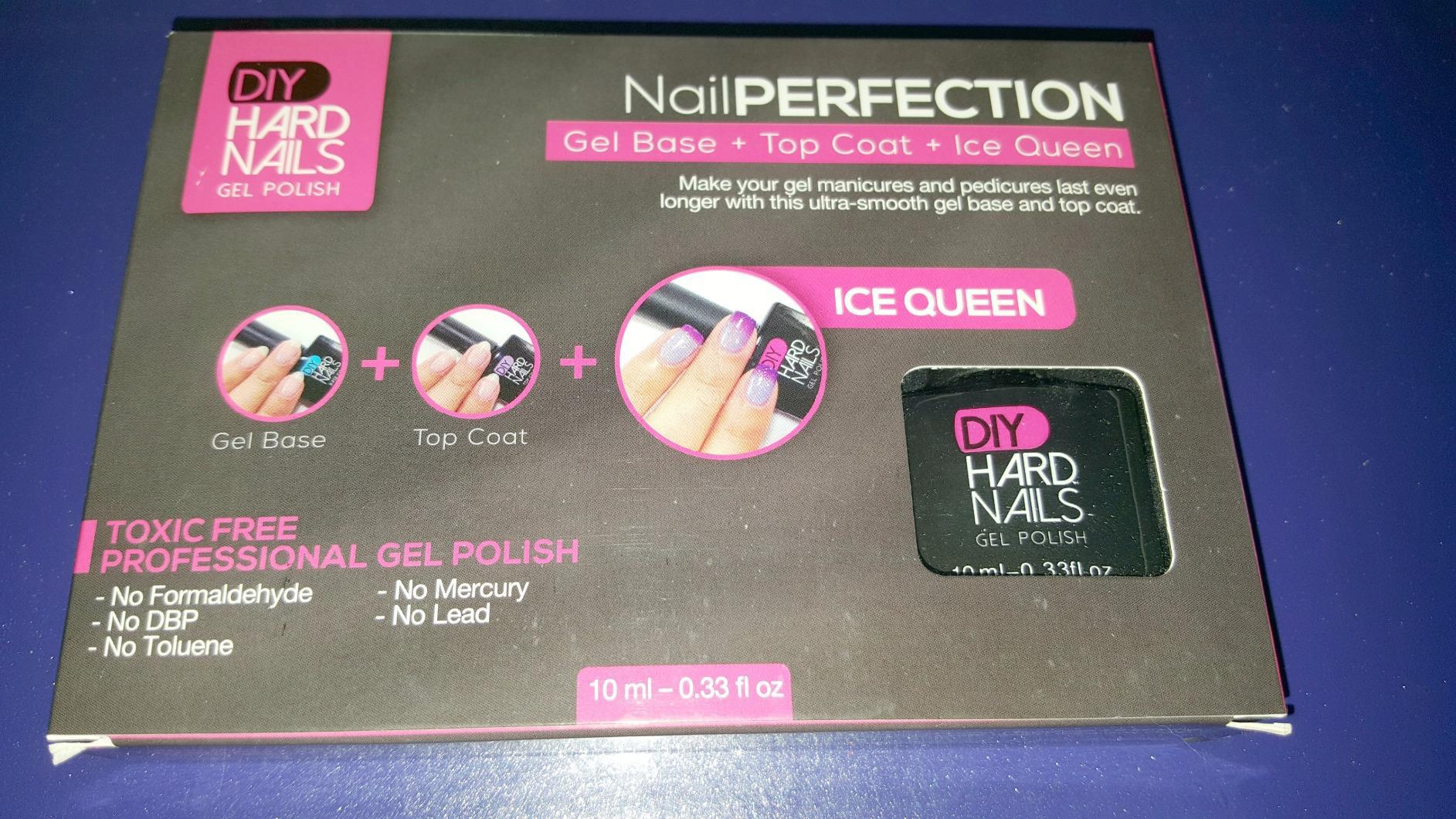 Gel Base Top Coat And Ice Queen Color Changing Shellac Polish Set Of 3 Bottles Non Toxic