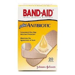 Band Aid Plus Antibiotic Bandages