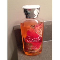 Sensual Amber shower gel- by bath and body works