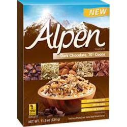 alpen dark chocolate cereal