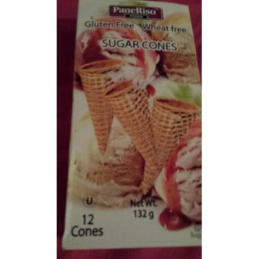PaneRiso Foods Gluten and Wheat Free Sugar Cones