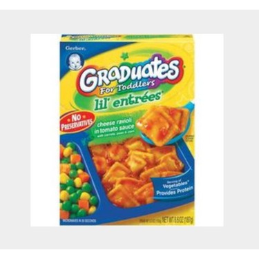 Graduates for toddlers lil entrees cheese ravioli in tomato sauce