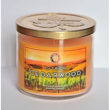 Bath and Body Works Citron Cedarwood candle