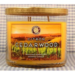 Bath and Body Works Citron Cedarwood candle