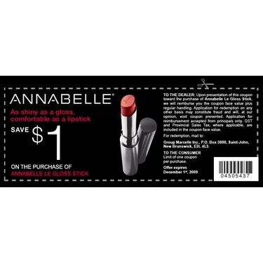 Annabelle Cosmetics Le Gloss Stick