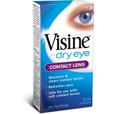 Visine for Dry Eye Contact Lens