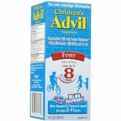Children's Advil Suspension Blue Raspberry
