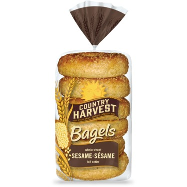 Country Harvest whole wheat sesame bagels