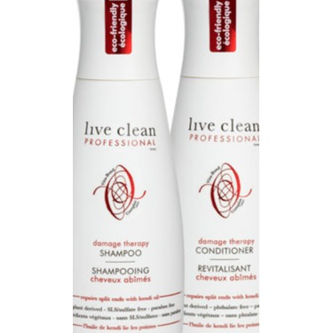 Live Clean Damage Therapy shampoo and conditioner