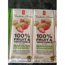 President's Choice 100% Fruit and Vegetable Juice Banana Strawberry