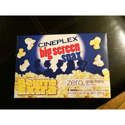 Cineplex Big Screen Snax Extra Butter