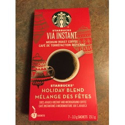 Starbucks Via Instant Holiday Blend