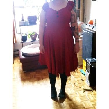 EA Selection Women's Cap Shoulder Vintage Swing Party Dress