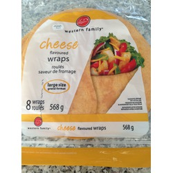 Western Family Cheese Flavoured Wraps