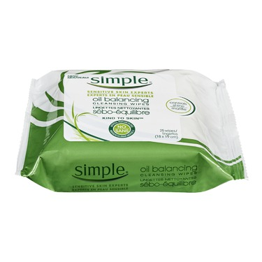 Simple Kind to Skin Oil Balancing Wipes