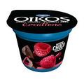 Danone Oikos Greek yogurt creations -Raspberry and Chocolate.