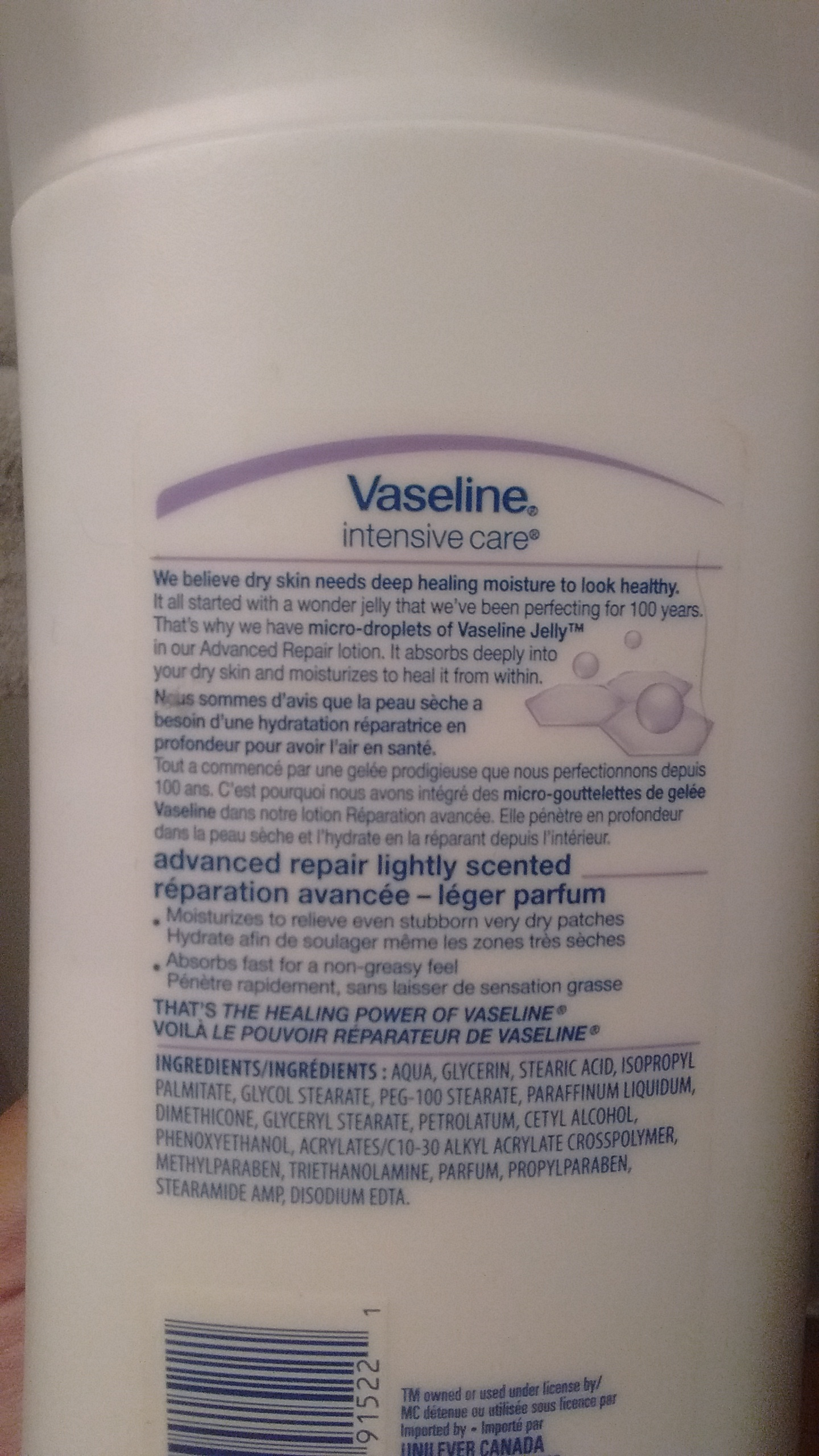 Vaseline Intensive Care Advanced Repair Lightly Scented