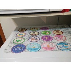Blulu Baby Monthly Holiday Stickers