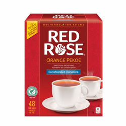 Red Rose Orange Pekoe Decaffeinated Tea Bags