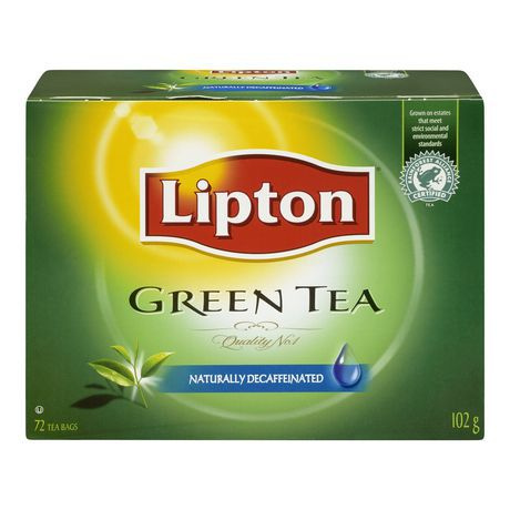 Decaffinated green tea