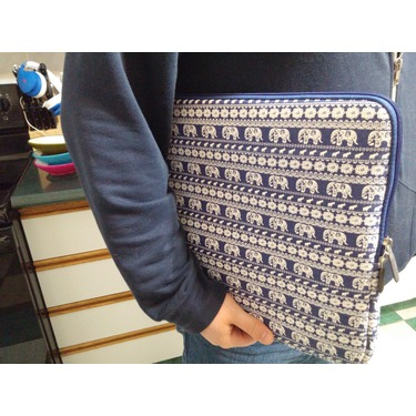 Arvok Canvas Fabric Laptop Sleeve Colorful Pattern With Extra Bag