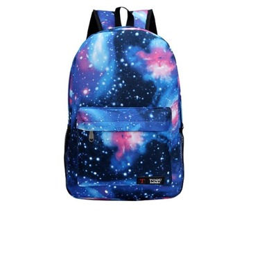 Toqu fashion canvas starry sky Galaxy backpack